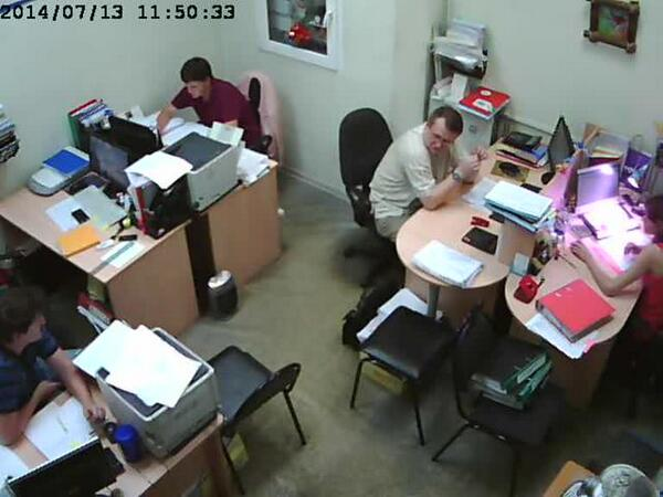 Webcam at the office