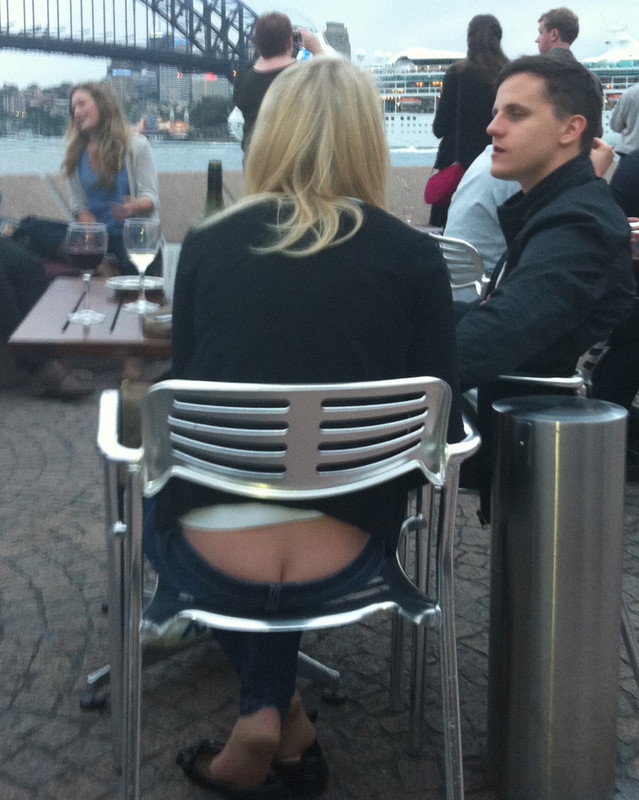 Ass exposed in public