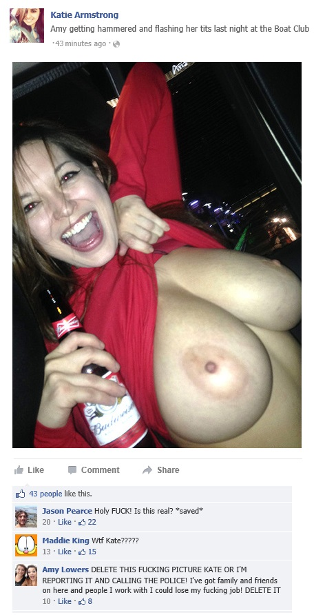 Amy getting hammered and flashing her tits