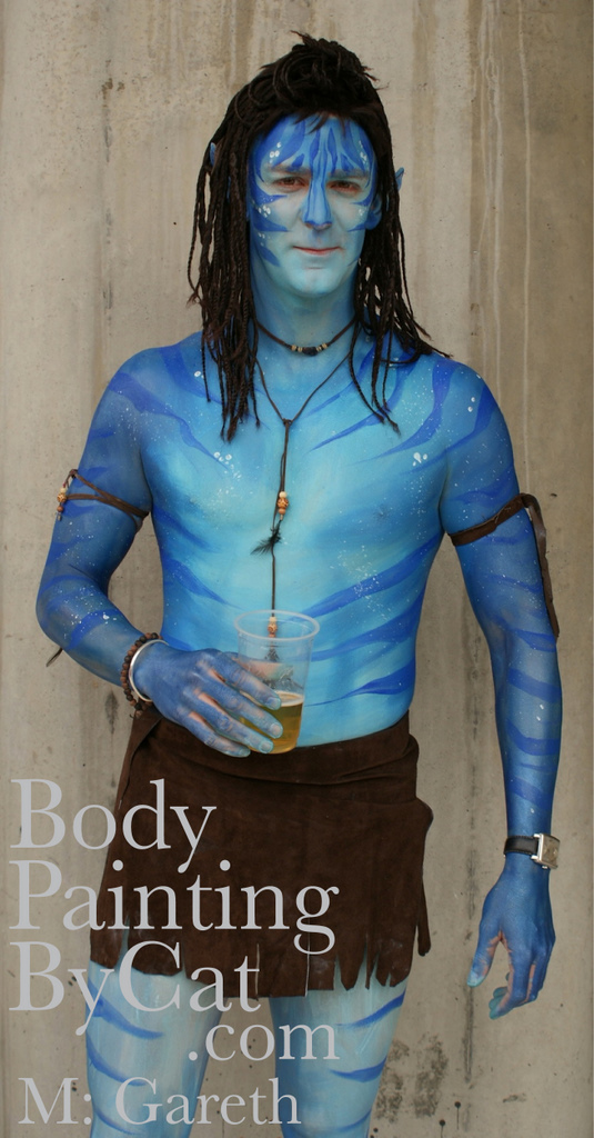 Ivy camouflage blend body paint skin city body painting
