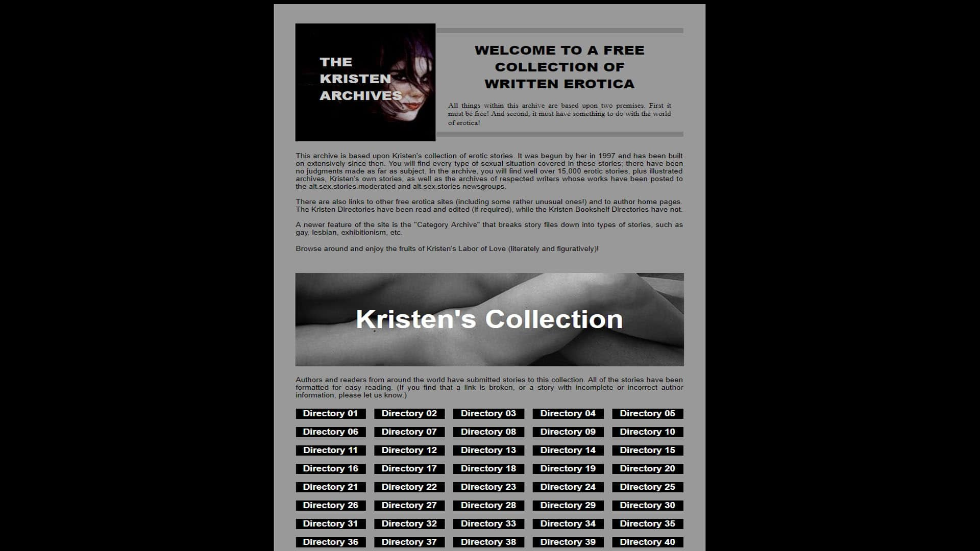 The kristen archives directory