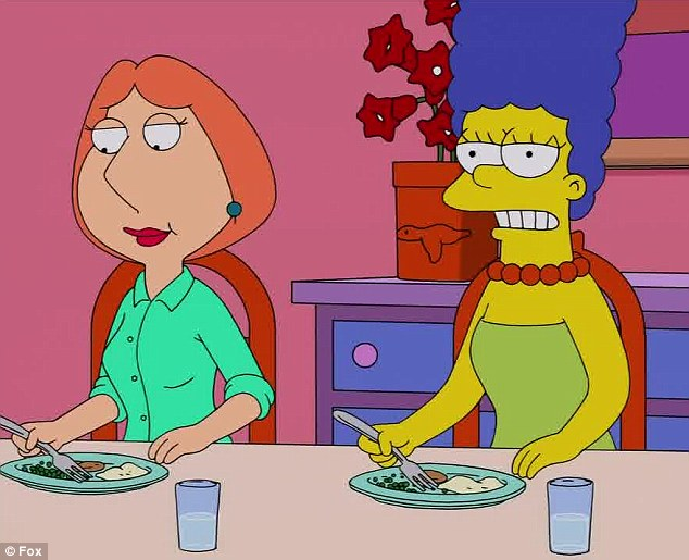 Lois griffin and marge simpson