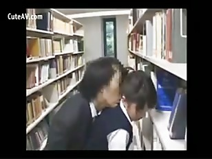 Hot busty asian schoolgirl fucked in the library