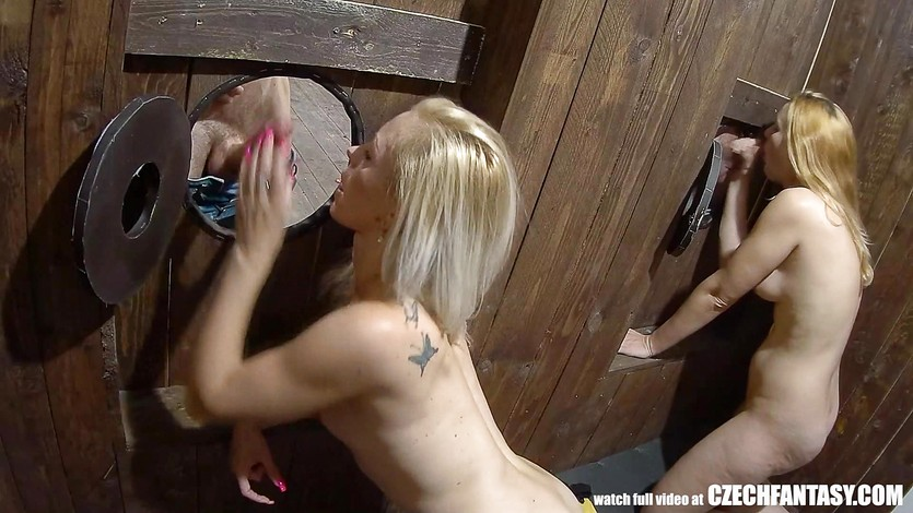 Glory hole sex video