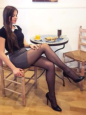 College girls in nylons