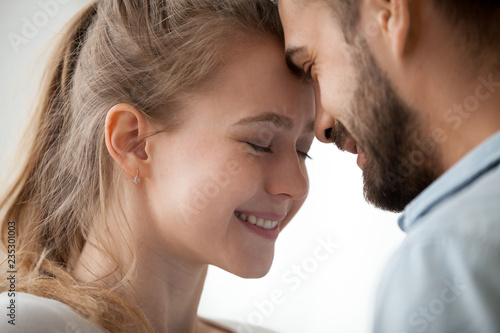Man and woman touching each other