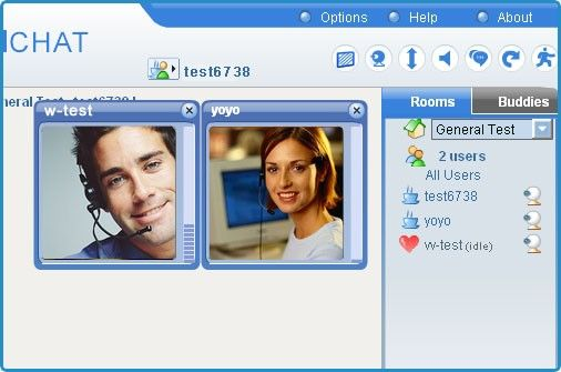 Chat on web cam