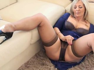 She squirts through her panties slut