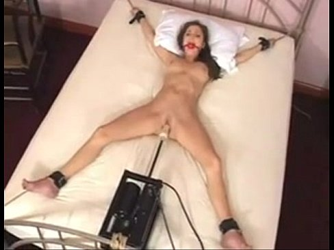 Woman tied to bed and fucked