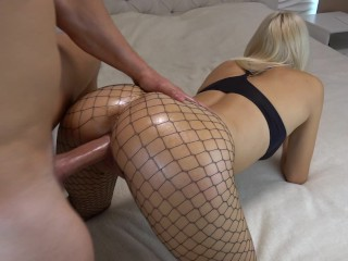 Two milf friend tied to bed and blindfold lesbian action